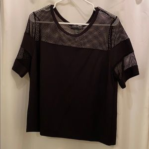 Forever 21 Plus Size Black Mesh top